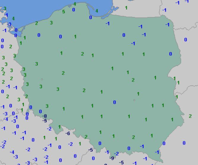 Temperatura minimalna 29 listopada (wetteronline.de)