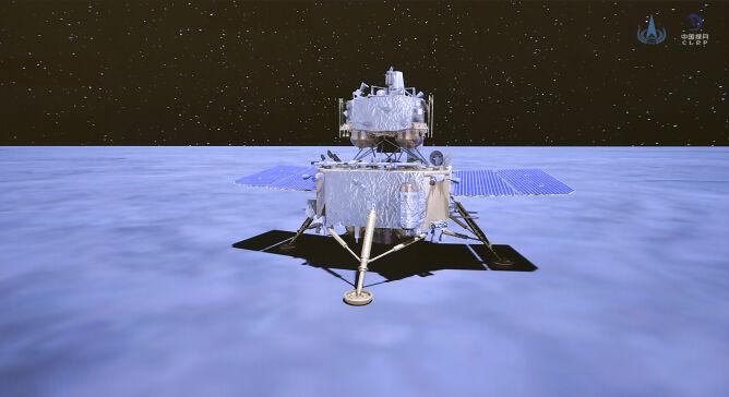 Wizualizacja sondy Chang'e-5 (Chińska Narodowa Agencja Kosmiczna)