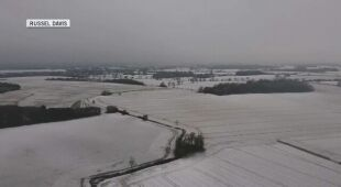 Ośnieżone pola w hrabstwie Essex