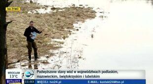 Piotr Czaban o sytuacji na rzekach (TVN24)